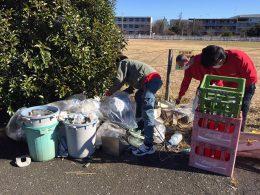 東京都東大和団地内 不法投棄物回収