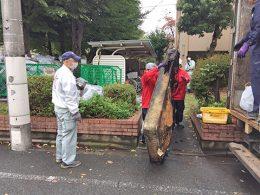 武蔵野市アパート火災燃焼物運搬作業